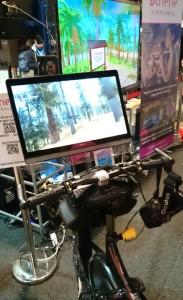 Kuntopyörä OculusRiftin kera